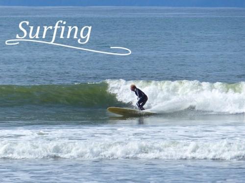 Surfer at Jordan River
